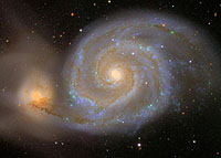 An SDSS image of the galaxy M51